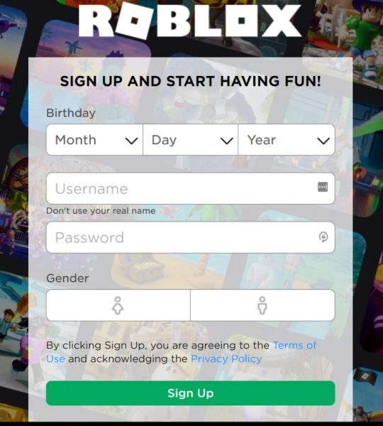 Roblox Signup PS4