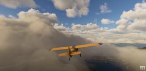 Scenery of Microsoft Flight simulator.