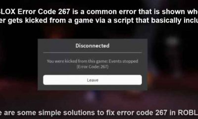 Roblox error code 267 message