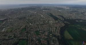 A city in Microsoft flight simulator 2020