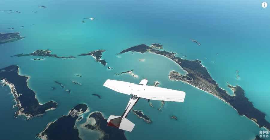 Microsoft Flight simulator 2020 snippet.