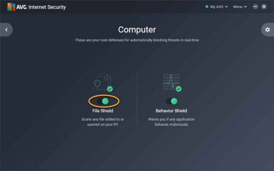 Disable AVG Antivirus